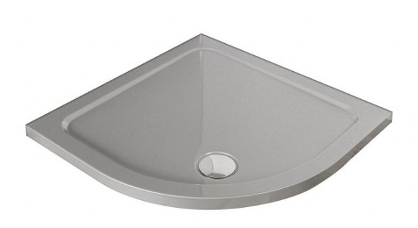 Premium Low Profile Silver Stone Resin Quadrant Shower Tray